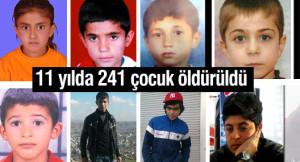 11 yılda devlet tarafından 241 çocuk öldürüld